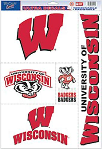 NCAA Wisconsin Badgers Ultra Decal Sheet, 11'x17', Team Color
