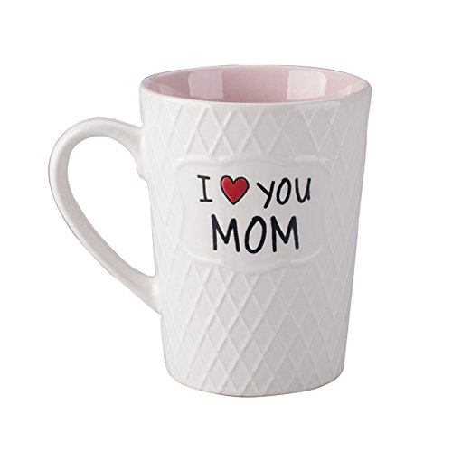 Ynsfree Mom Birthdays Gift Mug Gifts I Love You Mom 16 oz Coffee Tea Cup Gifts for Mom/Mothers/Ladies/Women/Wife/Valentine