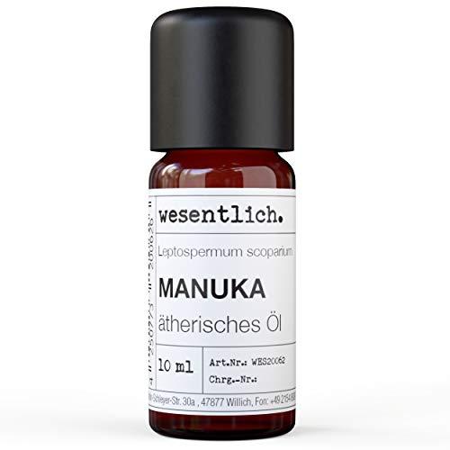 Manukaöl - reines ätherisches Öl von wesentlich. - 100{efd87948eca4375d44f9da5966dc3713a6ab77d90fe151084294d877d0af37c9} naturrein aus der Glasflasche (10ml)