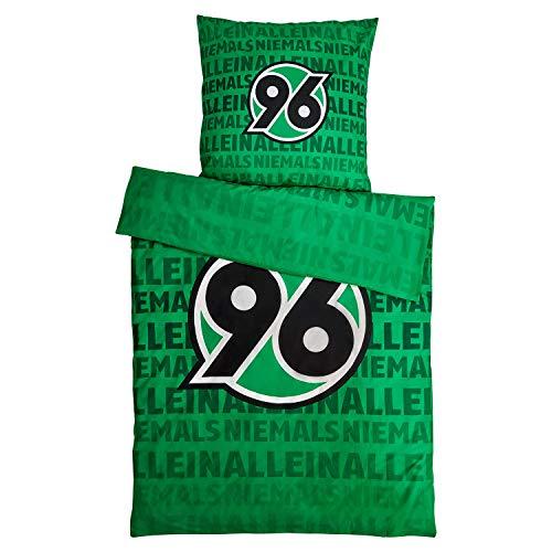 H 96 Hannover 96 Bettwäsche Niemals Allein 2-teilig (Bezug, Kissen)