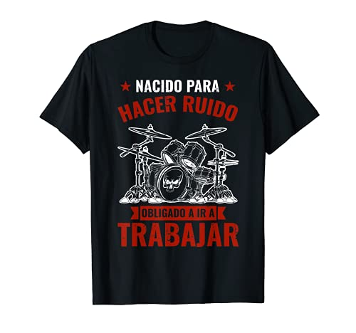 Drummer Regalo Música Baterista Nacido Para Tocar La Batería Camiseta