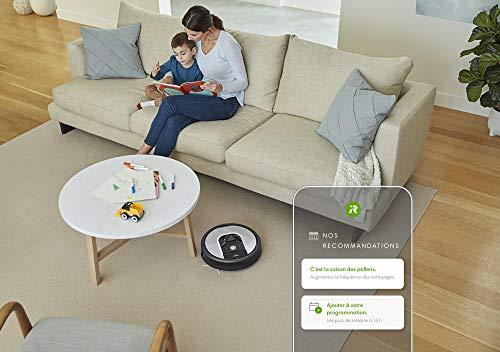 iRobot Roomba 971, aspirateur robot connecté WiFi avec forte puissance d'aspiration - 2 brosses anti-emmêlement en caoutchouc - pour grandes surfaces - se recharge et reprend le travail