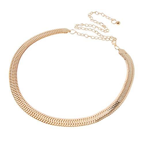 Sharplace Damen Metallgürtel Taille Kette Gürtel Körperschmuck Bauchketten Kettengürtel für Kleider
