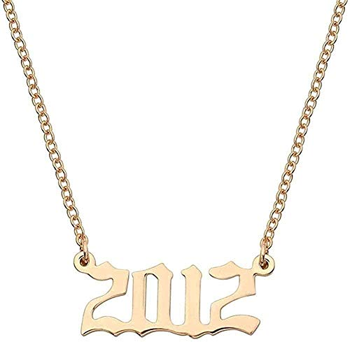 CCXXYANG Co.,ltd Necklace Fashion Vintage Gold 2000 to Alloy Pendant Necklace Year Special Date Men and Women Necklace Gifts