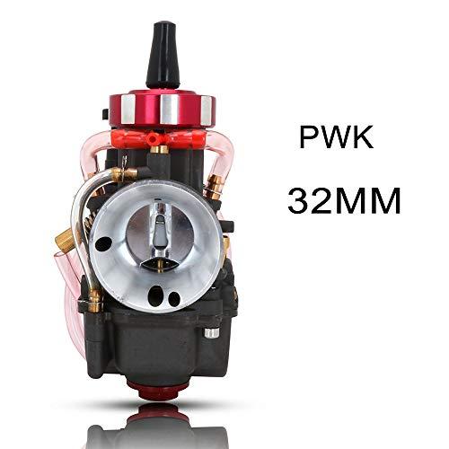 Carburador de la motocicleta, Universal colorido Scooter carburador 21 24 26 28 30 32 34 36 38 40 42 mm Carburador for Keihin PWK Con Power Jet Racing Moto (Color : 32MM Round gray)