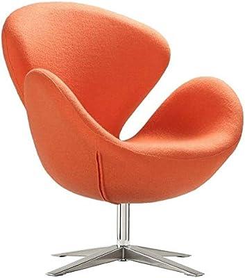 Sillón Egg Arne Jacobsen, color rojo: Amazon.es: Hogar