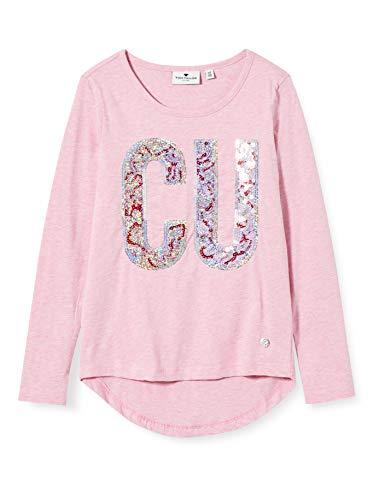 TOM TAILOR Mädchen Langarmshirt T-Shirt, Lilac Sachet|Rose, 164