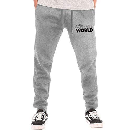 huatongxin It's A Wonderful World Men's Active Pantalones Largos Casual£¬Fashion Pants Pantalones...