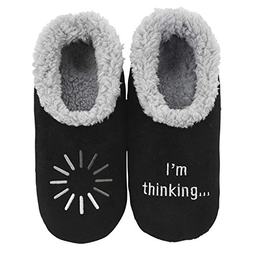 Snoozies Mens Pairables - Mens Slippers - House Slippers for Men - I'm Thinking - Large
