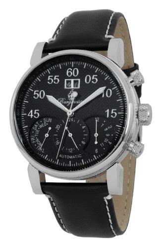 Burgmeister Armbanduhr für Herren mit Analog Anzeige, Automatik-Uhr und Lederarmband - Wasserdichte Herrenuhr mit zeitlosem, schickem Design - klassische Uhr für Männer - BM112-122 Montreal