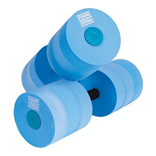 Power Systems Water Dumbbells, Heavy Resistance, Pair, Blue (86570)