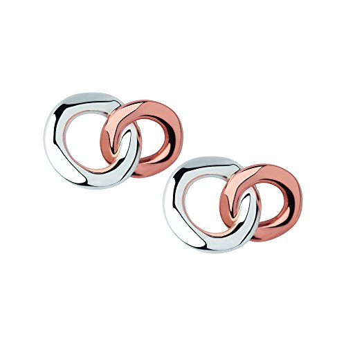Links of London 20/20 Sterling Silver and Rose Gold Stud Earrings