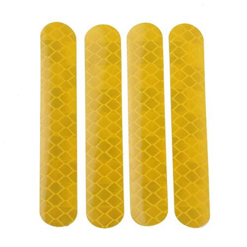 Fesjoy Tiras reflectantes adicionales para patinete eléctrico, pegatinas para el cuerpo, cubierta...