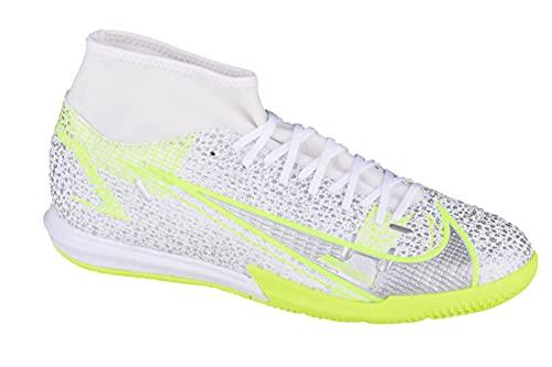 Nike Superfly 8 Academy IC, Zapatillas de ftbol, White Black Mtlc Silver Volt, 42 EU