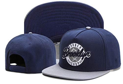 Gorras De Hombre Gorra de béisbol con bordado de letras de BROOKLYN gorras de marea de hip hop para hombres y mujeres sombrero plano universal deportes al aire libre sombreros para el sol azul marino