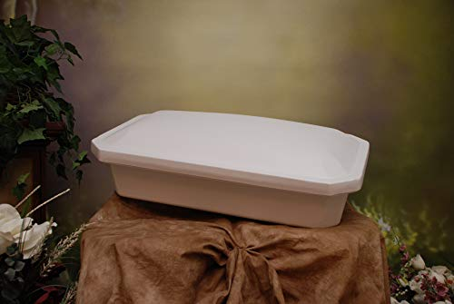 Newnak's Pet Caskets- Pet Casket White (3 Sizes) Economy (Small)