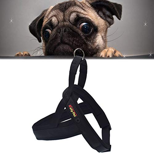 LEIXIN huisdierspeelgoed voor honden van nylon O-ring comfortabel A7 chst harness lijn, formaat: M, verstelbaar gamma: 60-74 cm (zwart)