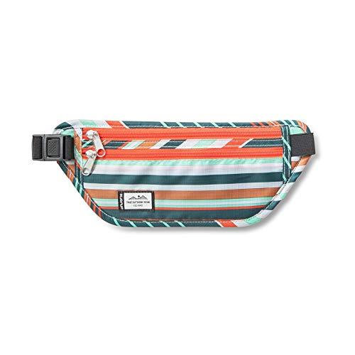 KAVU Hideaway Belt Bag Water Resistant Fanny Pack-Stripe Shift