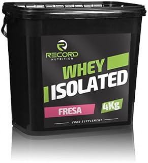 Whey Isolated 4kg 100% Profesional, proteina isolada, Sabor Fresa Record