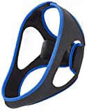 Emoly Upgraded Anti Snoring Chin Straps, Ajustable Stop Snoring Solution Snore Reduction Sleep Aids,Anti Snoring Devices Snore Stopper Chin Straps for Men Women Snoring Sleeping Mouth Breathers -Blue