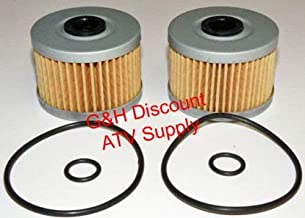 TWO OIL FILTERS WITH O-RINGS for the 2005-2011 Honda TRX 500 Foreman ATV