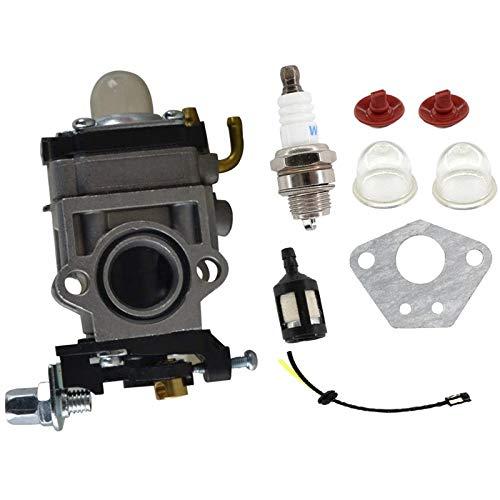 Super1Six Kit Line 15mm carburador de Combustible de 43cc 52cc 40-5 BC430 CG430 CG520 1E40F 5-44F-5 escobillas del Motor del Cortador Trimmer