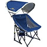 GCI Outdoor Pod Rocker Collapsible Rocking Chair with SunShade, Royal