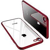 TORRAS iPhone SE ケース [第2世代] iPhone8/7ケース 背面クリア レッド