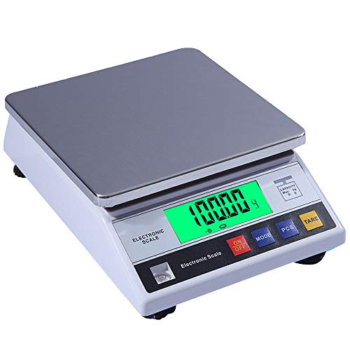 ZH-VBC Balanza Digital Electrónica de Alta Precisión de 0.1g Báscula Industrial Precision 3kg/5kg/6kg/7.5kg/10kg X 0,1g Balanza Electrónica Balanza Analítica Balanza Precisa Digital,6kg/0.1g