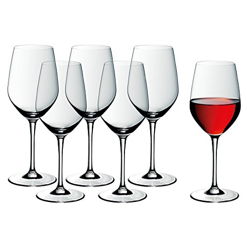 WMF 910039990 Set de 6 Verre à vin, Cristal, Transparent, 27 x 25 x 18,5 cm