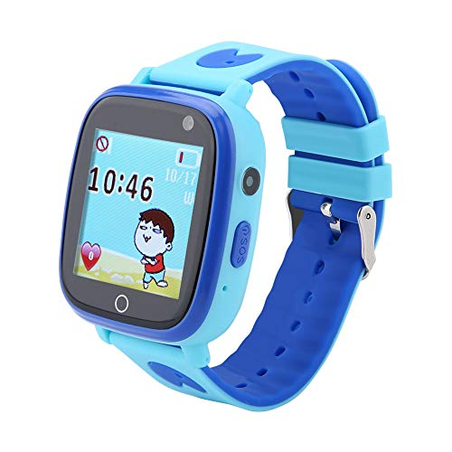 Ong Reloj para niños, Smart Watch Seguro, Soft TPU(Blue, LBS English Standard Version)