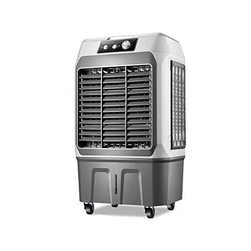 Qinmo Refrigeradores evaporativos de aire más fresco, 4500 Volumen de aire portátiles de gran tanque de agua 3 velocidades con el aire del ventilador de humidificación y refrigeración del hogar acondi