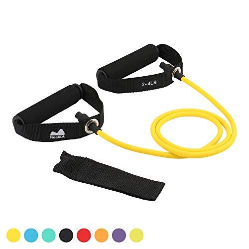 REEHUT Bandas Elásticas de Entrenamiento, Bandas de Resistencia para Fitness Cable de Ejercicio de Entrenamiento para Tonificación Muscular, Equipo de Ejercicio de Estiramientos para Yoga - Amarillo