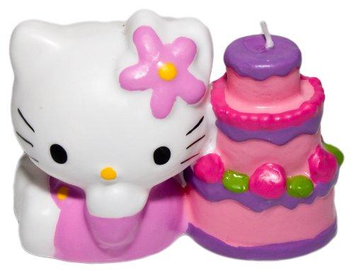 Sanrio Hello Kitty - Vela para tarta (8 x 7 cm), diseño de Hello Kitty