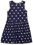 Tommy Hilfiger Girls' Adaptive Sleeveless Dress with Magnetic Closure Down Back, EVENING BLUE/MU 12