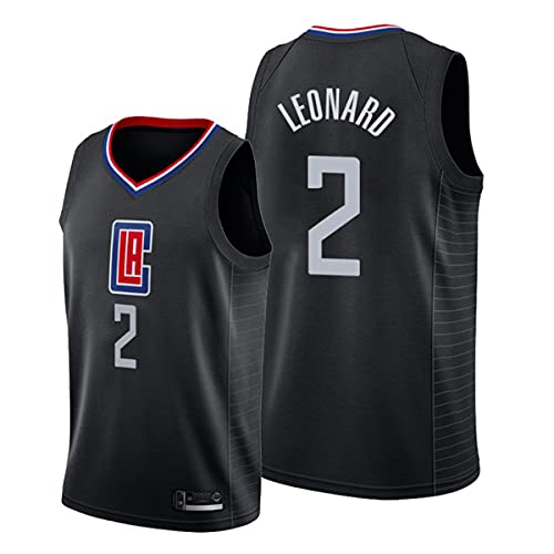 TGSCX Jerseys de Hombre, NBA Los Angeles Clippers # 2 Kawhi Leonard Classic Jersey, Transpirable Resistente a la Malla Bordada Camisetas Swingman (4 Estilos),D,XXL