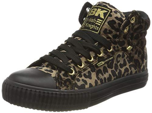 British Knights Dee, Zapatillas Mujer, Rost Leopard Gold Schwarz, 39 Eu
