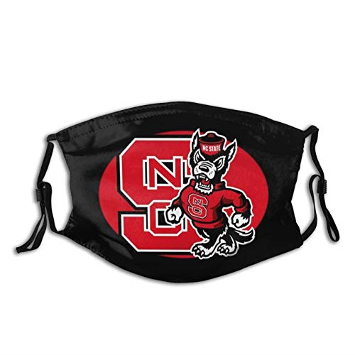 LALLRI Nc State NCSU-Wolfpack-Graphic Printed Faec Mask Fashion Design Dustproof Cover for Adult Outdoor