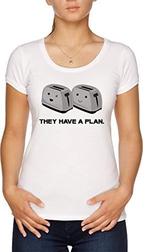 Vendax Toasters T-Shirt Donna Bianco