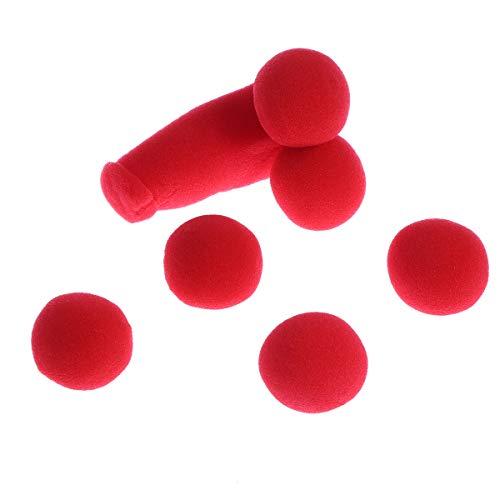 Amosfun 5 Piezas de Juguetes de Trucos de Esponja mágica con 4 Bolas de Esponja Rojas Juguetes de Trucos de Apoyo de Escenario (Rojo)