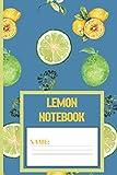 Lemon Notebook: Lemon gifts for women,men,kids,and teens: cute & elegant Steel Blue blank Lined notebook/Journal to write in
