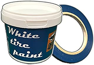 White Wall Tire Paint - 250ml with Masking Tape