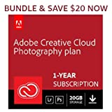 Adobe Creative Cloud Photography plan 20 GB (Photoshop + Lightroom) | 12-month Subscription with auto-renewal, PC/Mac [Subscription]