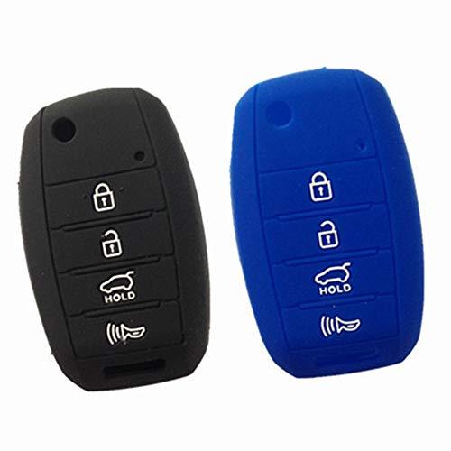 WKX 2pcs Key Cover Fit for 2013-2016 KIA Sorento Carens Forte Rio Soul Optima Sportage Remote Key Holder Protector Fob Skin Key Cover Keyless Gift TQ8-RKE-3F05