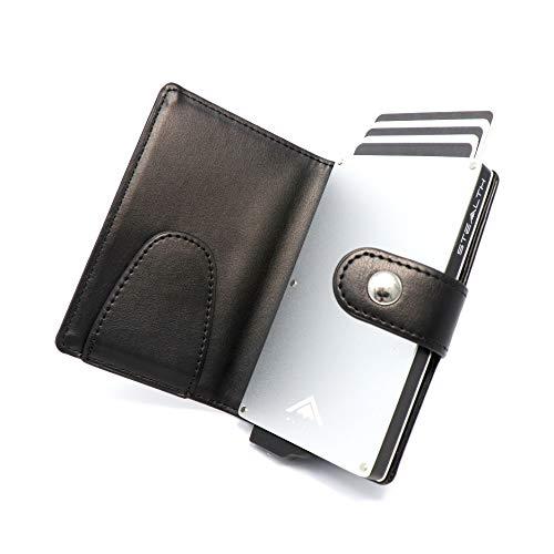 STEALTH WALLET Portatarjetas RFID Minimalista - Carteras de Tarjetas de Crédito de Metal...