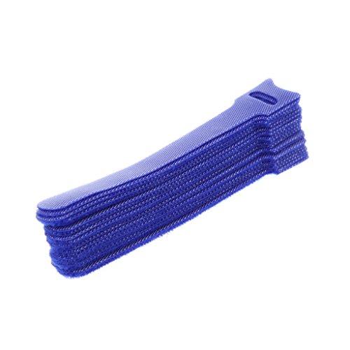 Xuebai 20 Stück Wiederverwendbare Befestigung Kabel Organizer Kopfhörer Maus Krawatten Management Kabel Wickler Blau