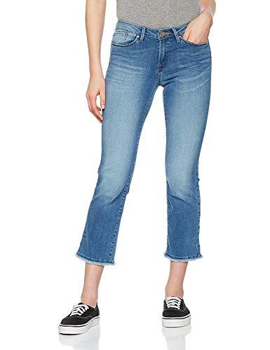 ONLY Damen Jeans Onlnew Sissi Reg Straight Crop CRE171906, Blau (Light Blue Denim Light Blue Denim), W25/L32