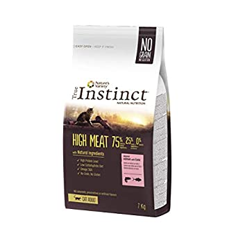 True Instinct High Meat Adult - Nature's Variety - Croquettes pour Chat Adulte avec Saumon sans Arêtes et Truite - 7kg