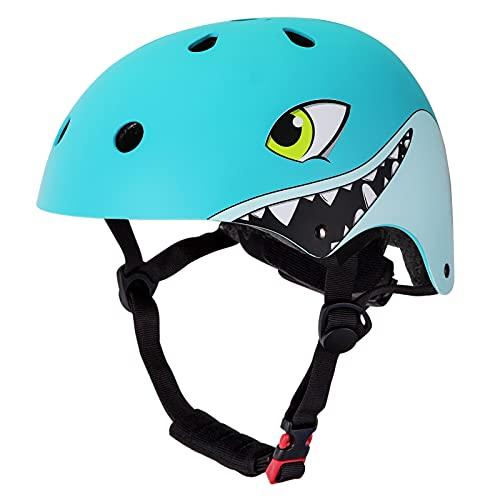 YGJT Casco Bici Bambini, Caschetto Bici Bambino 2-5 Anni Regolabile 50-54CM Ultraleggero Traspirante Adatto per Biciclette/Scooter/Pattinaggio a Rotelle/Hoverboard/BMX