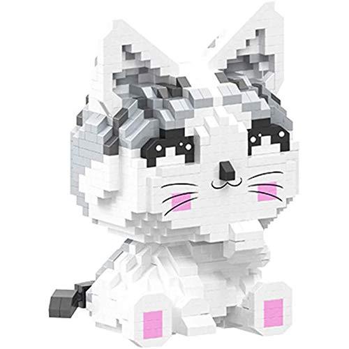 Ikpdbw Bloque de construcción de Gatito de Anime 1022 Piezas Nano Mini Bloque de construcción Juguete de Bricolaje, Rompecabezas 3D Juguete Educativo de Bricolaje